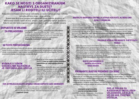Letak Kako organizirati nastavu u kuci_OdgSavj1